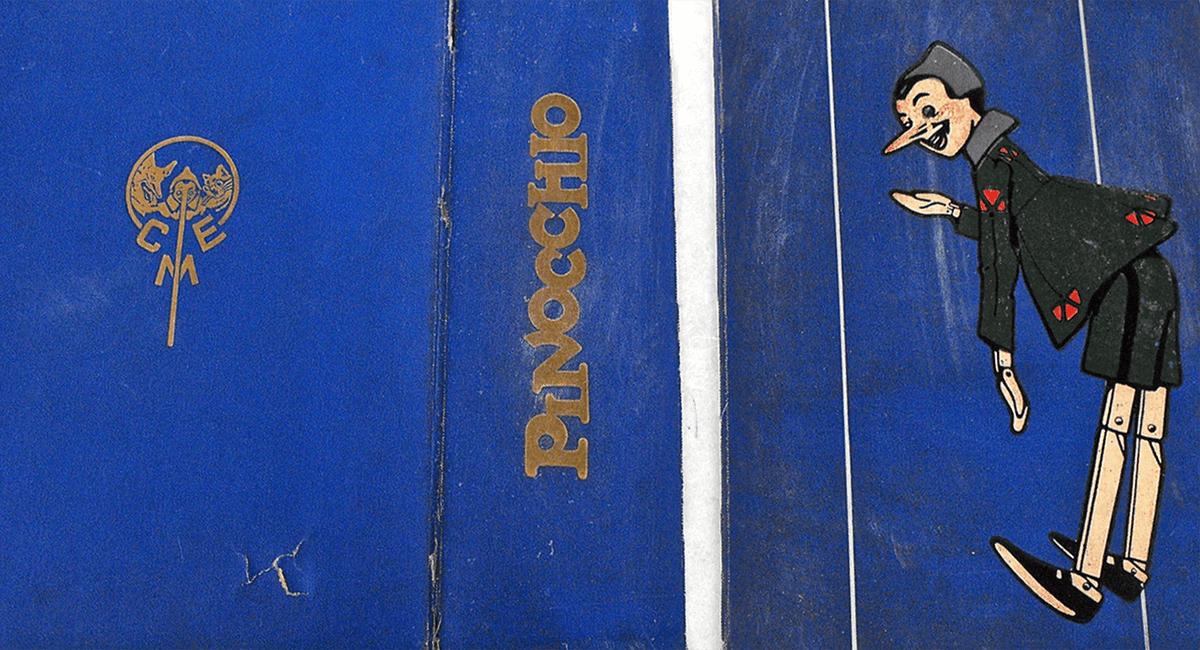 Stefania Zeppieri   Conservazione e Restauro Beni Librari, Archivistici, Opere d'Arte su carta e manufatti Affini - Restauro volumi rari - Pinocchio (Collezione Privata)